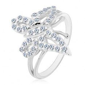 Prsten ze stříbra 925 - zaoblený třpytivý zirkonový motýl E6.5