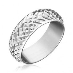 Prsten ze stříbra 925 - lesklé vystouplé kosočtverce H14.13