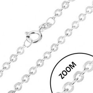 Řetízek s kolmo napojovanými očky ze stříbra 925, 1,2 mm U17.03