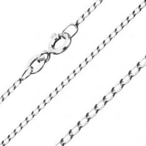 Řetízek ze stříbra 925 - hladká podlouhlá očka, 1 mm G03.17