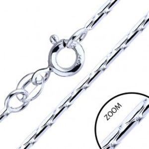Řetízek ze stříbra 925 - tyčinkové články, 1,3 mm AB24.18