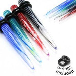 Roztahovák z UV akrylu se spirálovým vírem a dvěma gumičkami C9.10