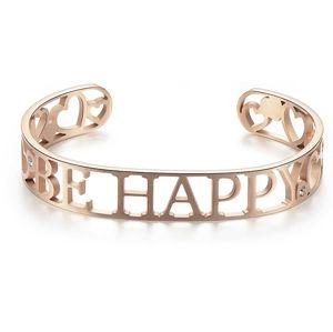 S`Agapõ Pevný ocelový náramek Be Happy Lovely SOV16