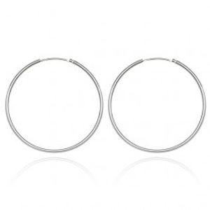 Stříbrné náušnice 925 - tenké, hladké kruhy, 22 mm A16.3