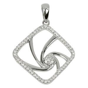 Silver Cat Stříbrný přívěsek s krystaly SC083