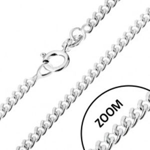 Stříbrný 925 řetízek, zatočená kulatá očka, 1,4 mm U20.09