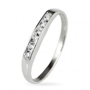 Stříbrný prsten 925 - třpytivá zirkonová linie E7.5