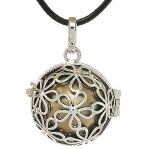 MUMMY BELL-Těhotěnská rolnička Dámský náhrdelník Rolnička Malé kytičky K2SH20