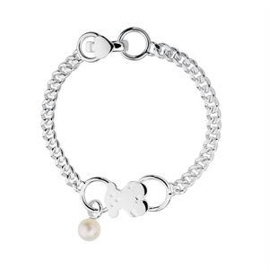 Tous Stříbrný náramek s medvídkem a pravou perlou 512771530