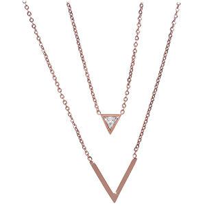Troli Dvojitý bronzový náhrdelník s trojúhelníky TO2209