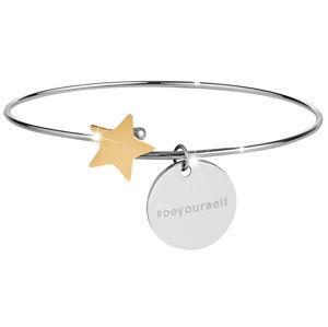 Troli Ocelový náramek s hvězdičkou stříbrný/zlatý