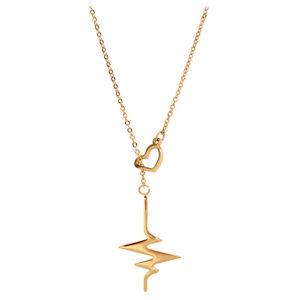 Troli pozlacený náhrdelník Srdeční tep TO1965