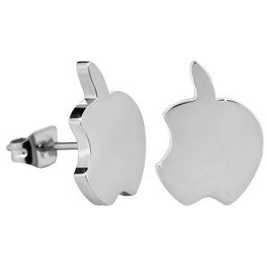 Troli Peckové ocelové náušnice Nakousnuté jablko