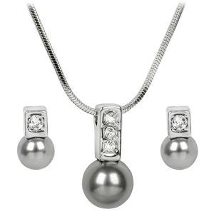 Troli Sada náhrdelníku a náušnic Pearl Caorle Grey
