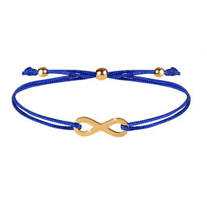 Troli Šňůrkový náramek s nekonečnem modrá/zlatá TO2520