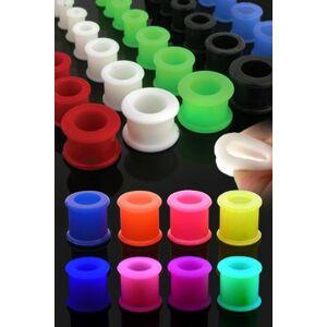 Tunnel do ucha UV ohebný, gumový - Tloušťka : 11 mm, Barva piercing: Fialová