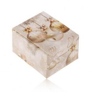 Vánoční krabička na dárek - prsten, náušnice nebo přívěsek, Merry Christmas U21.13