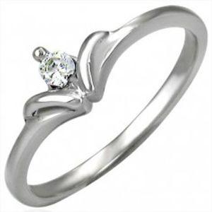 Zásnubní prsten se vzorem mašličkového kamínku D8.12